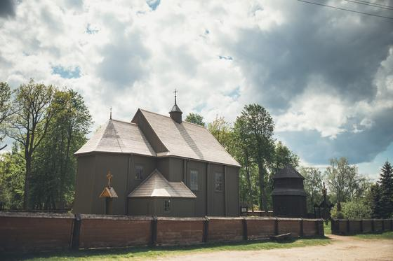 Wooden Palūšė Church with a bell tower 31